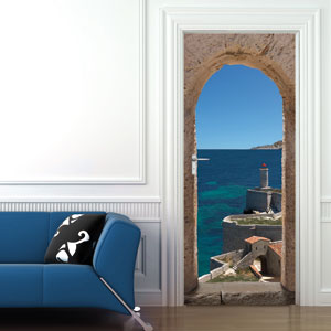 Plage france stickers de portes for Sticker porte plage