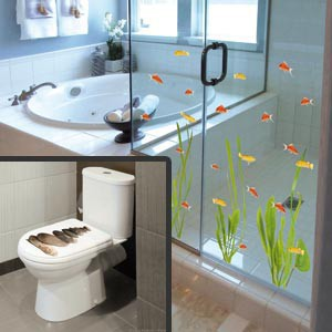 Plage france stickers pour douche carrelage et wc for Decoration des douches